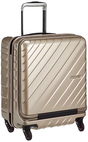 [ヒデオワカマツ] スーツケース ジッパー フロントオープン ウェーブII 機内持込最大容量 機内持ち込み可 85-76570 保証付 42L 50 cm 3.3kg ゴールド