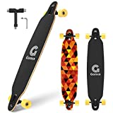 Gonex Longboard Skateboard, 42 Inch Drop Through Long Board Complete 9 Ply Maple Cruiser Carver for Girls Boys Teens Adults Beginners, Sunset Glow