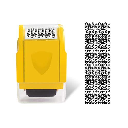 Ulinker 1 sello confidencial de rodillo para la prevención de identidad y protección de direcciones para recibos de tarjetas de crédito, estados bancarios y postales