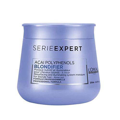 L\'Oréal Professionnel Serie Expert Blondifier Maske, schützende Haarkur für blondes & naturblondes Haar, mit Açaibeeren, Intensivkur 250 ml