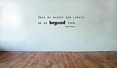 Blinggo Albert Einstein-Once we accept our limits -2 removable Vinyl Wall Decal Home Dicor