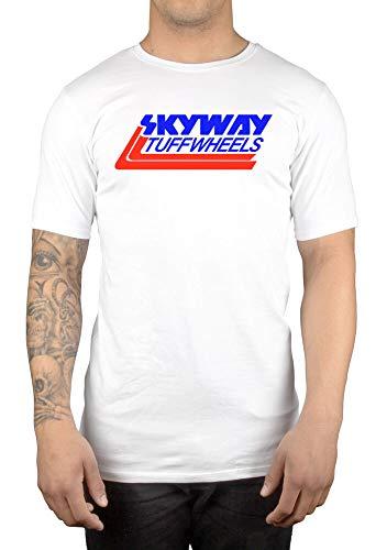Skyway Tuff Wheels New Retro BMX T-Shirt Cycling Bandit Bike Mongoose White L