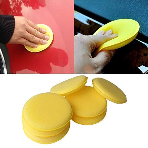 CAR L 5 PCS Auto-Träger-Wachspolitur Schaum-Schwamm Handweichwachs Gelb Schwamm-Auflage for Auto-Pflege Pflege Waschen