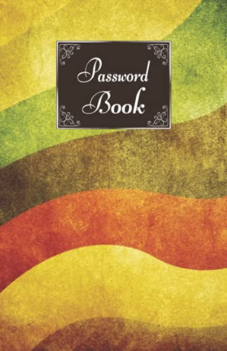 Password Book: Internet Address and Password Logbook with Alphabetical Tabs, Personal Password Keeper for Home and Office, Website Logins Security Journal (Retro Pattern Cover Notebook)