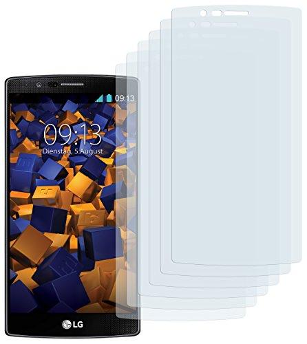 mumbi Schutzfolie kompatibel mit LG G4 Folie klar, Bildschirmschutzfolie (6x)