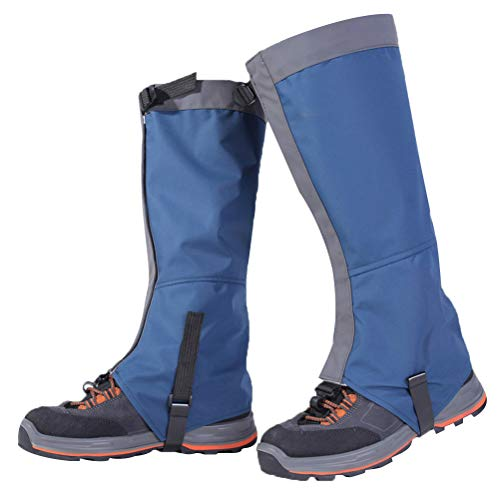 Oyria 1 para Wandern Bein Gamaschen Schneeschuh Gamaschen Atmungsaktive wasserdichte Walking High Leg Cover Schützen Anti Riss Atmungsaktive Boot Guardian für Outdoor Klettern (Blau, L)