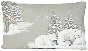 Weihnachten Design Kissenhüllen Eisbären Muster Winter Wunderland Kissenbezug Zierkissen 50 x 30cm