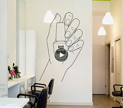 Muursticker nagellak wandtattoo manicure vinyl muursticker nagelstudio decoratie pedicure nail art Poolse muur raam muurschildering 42 cm x 66 cm