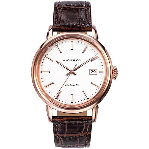 Viceroy Reloj Analógico para Hombre de Automático con Correa en Cuero 46559-07