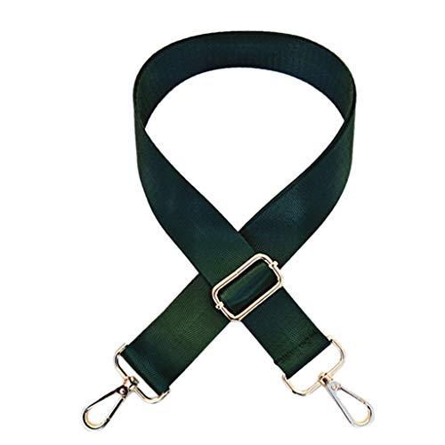 VIcoo 120cm Verstelbare vervangende schouderriem Afneembare riem voor Messenger-schoudertassen - Geel Brown