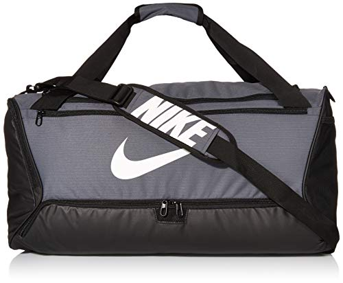Nike NK BRSLA M DUFF - 9.0 Gym Bag, Flint Grey/Black/White, 61 cm