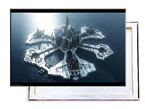 Unified Distribution Stargate Atlantis - 120x80 cm Kunstdruck auf Leinwand • erstklassige Druckqualität • Dekoration • Wandbild