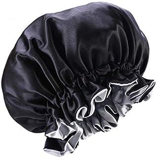 YiyiLai Women Brim Double Sided Elastic Band Satin Bonnet Reversible Night Cap Sleeping Hat Turban