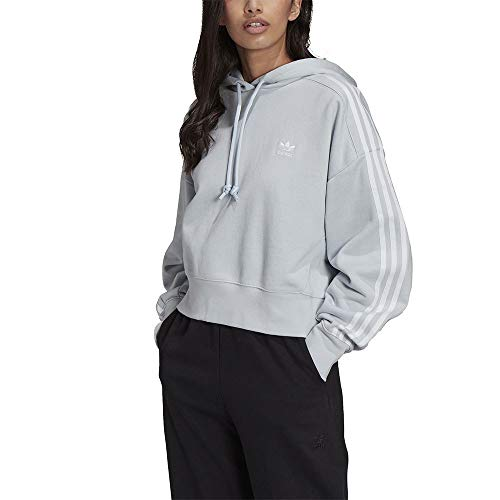 adidas Short Hoodie hooded sweat, halo blue, 38 Womens