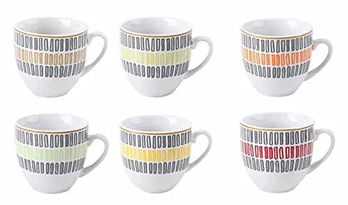 Juego de 6 tazas de café Bra' color sin platos de cerámica
