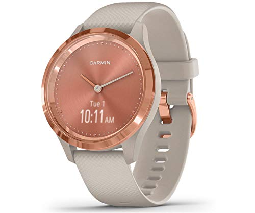 Garmin Vívomove 3S Sport Reloj Inteligente, Unisex Adulto, Rose Gold/Tundra, Small