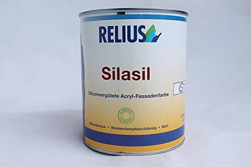 Relius Silasil Acryl-Fassadenfarbe Matt Weiß 0,725 Liter