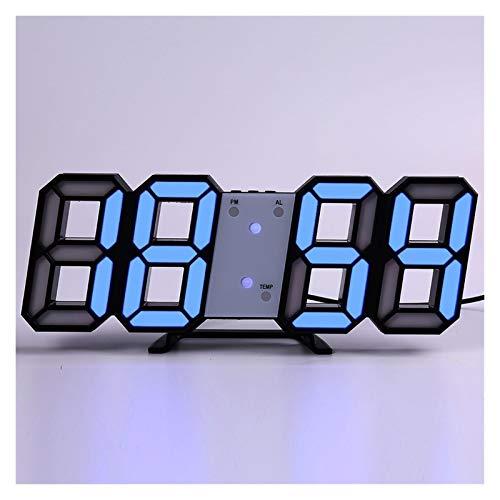 Reloj de Alarma Personalizado Reloj de Pared Digital del diseño Moderno Sala decoración de la Tabla Reloj Despertador Luminoso del Escritorio (Colore : Wall Clock b)