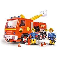 Simba- Feuerwehrmann Bombero Sam Jupiter 2.0 con 2 Figuras, Color carbón, 0 (109251036)