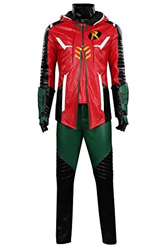 SETHOUS Disfraz de Robin para Halloween Bats Caballeros Cosplay Uniforme Conjunto completo