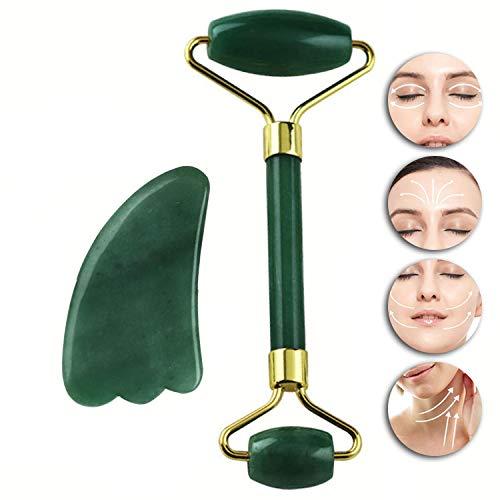 HGJDKSJ Rouleau de Jade, Outils de Massage Et de Beauté du Visage, Traitement Anti-âge pour Réduire Les Rides Et Ridules, pour La Fête des Mères