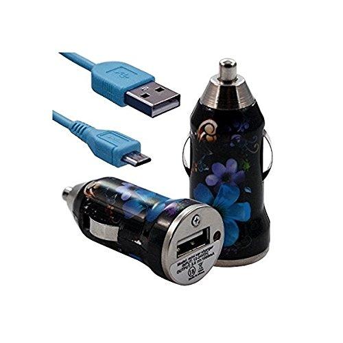 Seluxion–Cargador de coche en coche, diseño de flores para LG: G3/G2Mini/G2/Optimus G Pro/Optimus F6/Optimus F5/Optim
