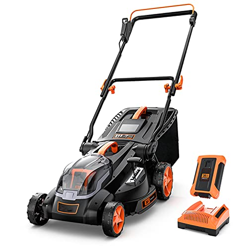 Cordless Lawn Mower, 40V Max 4.0Ah Battery,...