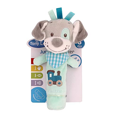 NiceButy Baby Rassel Spielzeug, Zeichnung, niedlich, Tiermotiv, weich, Erziehungseffekt, Spielzeug für Babys, Blau