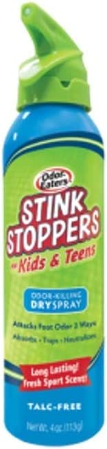 Limited time trial price Odor-Eaters Stink Stoppers for Super Special SALE held Kids Teens Spray Pac Dry Oz 4