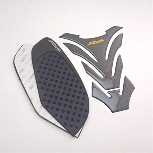 for Yamaha YZF R6 2008-2015 08 09 10 11 12 13 14 15 Motorrad-Side-Auflage Carbon Look Tankpad (Color : Dark Grey)