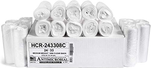 Aluf Plastics 12-16 Gallon Clear Trash Bags (1000 Count) - 24