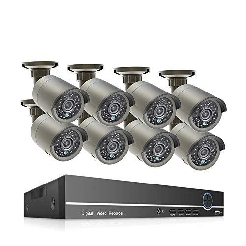 Kit De Vigilancia H.265 8Ch 1080P Hdmi PoE Nvr Kit CCTV Sistema De Seguridad 2.0 MP IR Audio Al Aire Libre IP Cámara IP-Porcelana_3T_8Ch Nvr 8 Cámaras