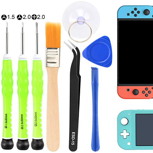 PAGOW Triwing Screwdriver for Nintendo Switch, 8in1 Security Screwdriver Game Bit Repair Tool Kit, with Screwdrivers, Tweezer, Opening Pry Bar&Suction Cup for Nintendo Switch Lite, Joy-con Controller