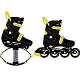 GVCTR Jumps - Zapatillas de deporte para niños, niñas y niños, botas de fitness para saltos, botas de rebote, saltos, un par de zapatos de doble uso