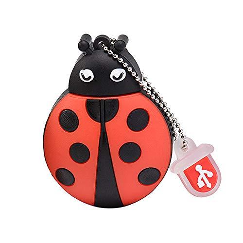 Chiavetta USB 32GB/64GB/128GB Cartoon Pendrive Memory Thumb Stick USB 2.0 Animal Jump Drive Data Storage Gift (32GB, scarabeo)