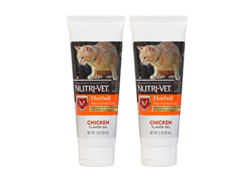 Nutri-Vet Feline Natural Oil Hairball Paw-Gel Chicken Flavor 3oz - Pack of 2