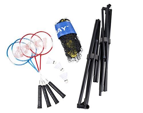 Donnay - 41401 - Kit De Badminton Avec Filet - 9 Pièces