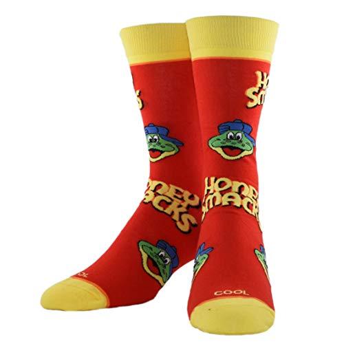 Cool Socks, Unisex, Kellogg's Cereal, Honey Smacks, Crew Socks, Novelty Crazy Fun