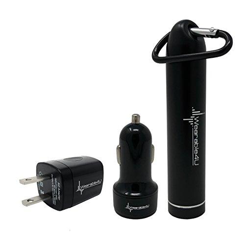 Garmin InReach Explorer+ Handheld Satellite Communicator with GPS Navigation, Maps, and Sensors 010-01735-10 and Wearable4U Ultimate Power Pack Bundle