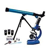 Eastcolight 20721 Lern-Mikroskop für Kinder, tragbares Wissenschaftslabor, Geschenk für Kinder