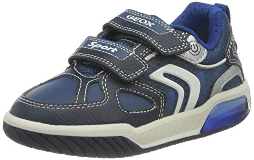 Geox J INEK Boy B Sneaker, Navy/Royal, 35 EU