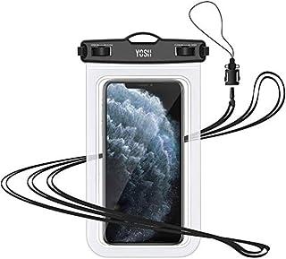 YOSH Funda Impermeable Móvil Universal, IPX8 Certificado, Bolsa Sumergible para iPhone X 8 7 6s Samsung J5 S8 S9 Huawei P20 P10 y Otros Móviles hasta 6.3 Pulgadas (Transparente)