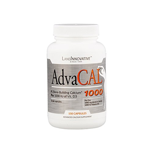 Lane Innovative - AdvaCAL 1000, Advanced Calcium Supplement, Easy to Swallow Extra Small Capsule, Supports Increased Bone Density (150 Capsules)