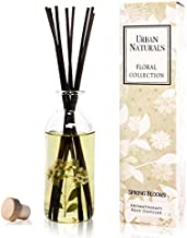 Urban Naturals Spring Blooms Scented Reed Diffuser Oil Set   Real Flowers in The Bottle! Bulgarian Rose, Egyptian Jasmine, Blue Orchid, Lily of The Valley, Amber   Great Idea