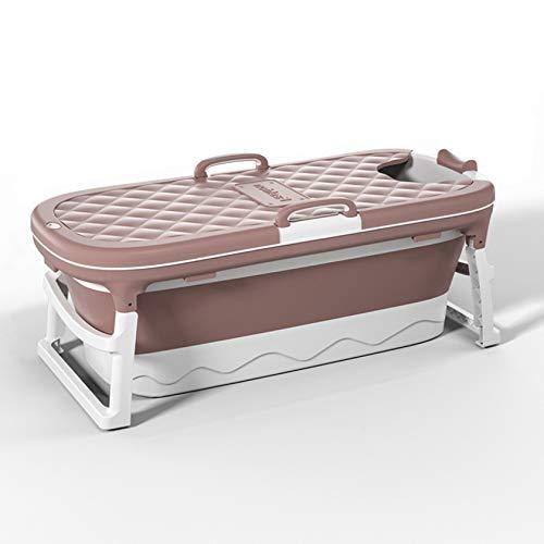 SYN-GUGAI Bañera Plegable para Adultos, bañera Plegable para bebés Bañera portátil para bebés y niños pequeños para 0-4 años Soporte de baño Plegable Antideslizante para Lavabo,Pink