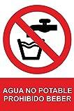 MovilCom - Adhesivo PROHIBIDO AGUA NO POTABLE 100x150mm Señal prohibición (ref.RD46616)