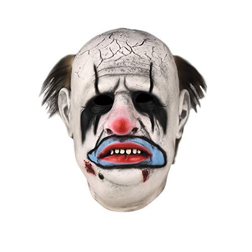 Dead Daylight Horrible Butcher The Clown Mask Bald Clown Halloween Cosplay Costume