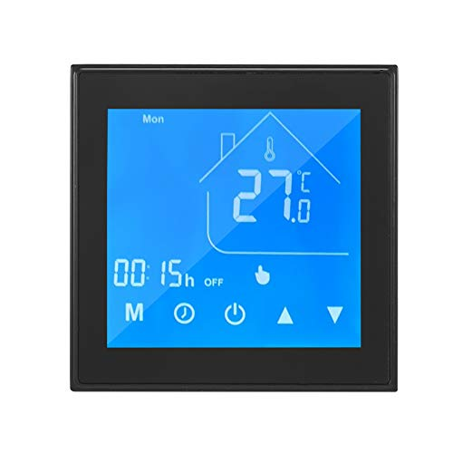 OWSOO Smart Thermostat Tuya Zigbee Smart Thermostat Temperature Controller LCD Display Week Programmable for Electric Underfloor Heating Tuya APP Control Compatible with Alexa Google Home