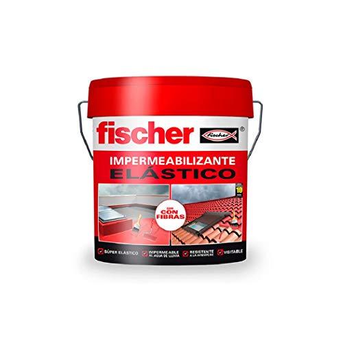 fischer – Impermeabilizante (cubo de 1 kg) blanco, polímero líquido a base de caucho acrílico con fibras para tejas y baldosas, fácilmente aplicable, resistente al agua y a la intemperie
