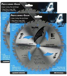 Shark Pro-series (2 Pack) 8-1/4 inch 40 Teeth Carbide 5/8' arbor hole DKO Thin Kerf ATB Miter Saw Blade 'Ship FREE buy $25+'